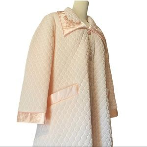 Gossard Quilted Vintage House Coat Pink si…